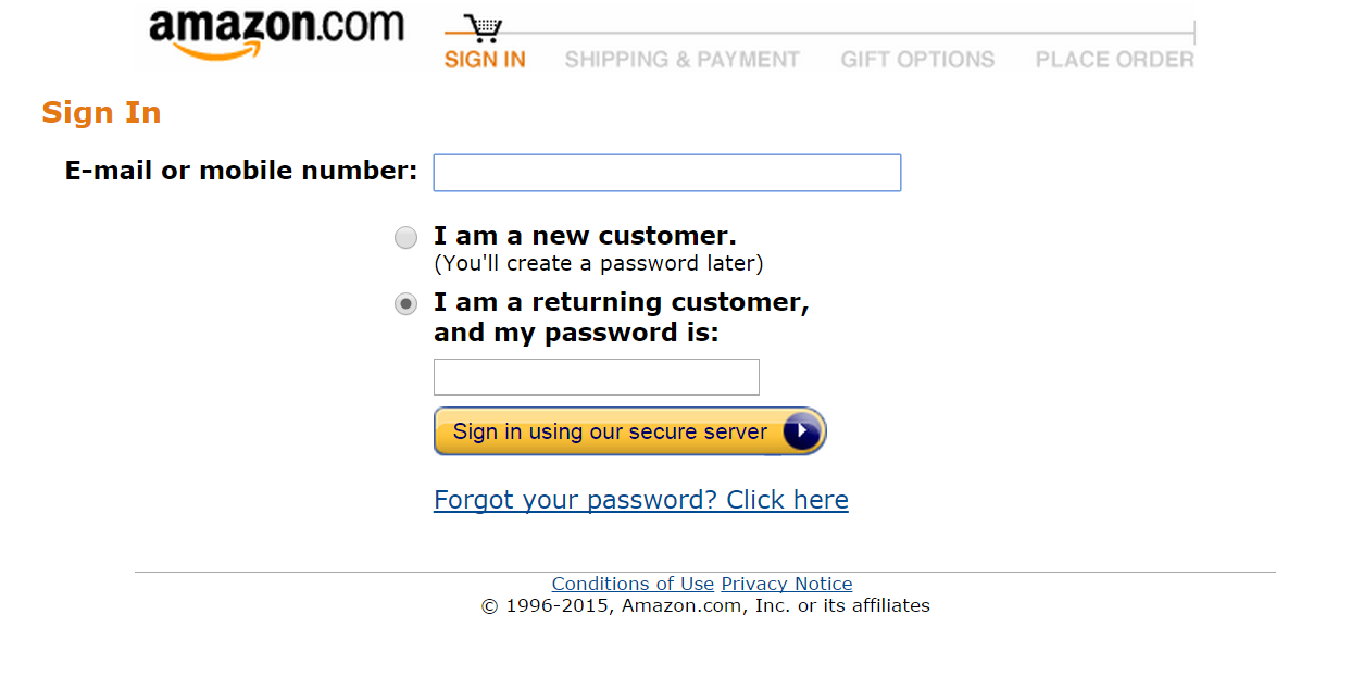 recover amazon password