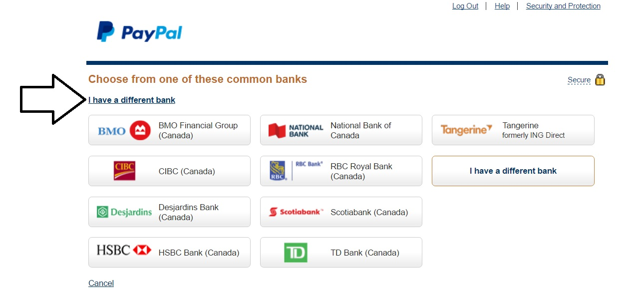 How to link your PayPal account to Canadian USD bank?